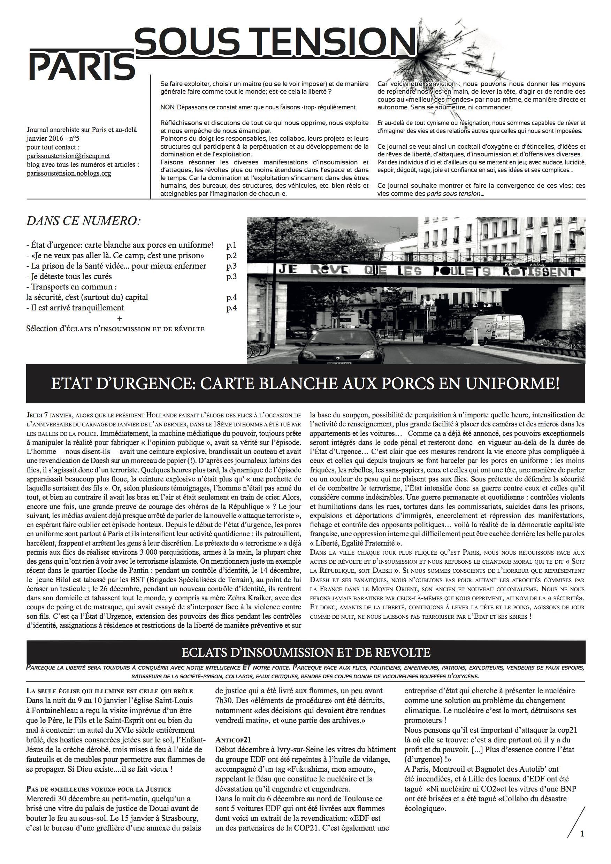 cliquer sur la première page pour télécharger Paris sous tension n°5